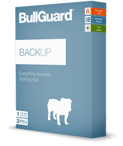 Boxed BullGuard Backup software