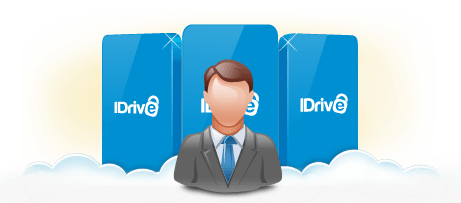 External hard drives with data uploaded to IDrive Express