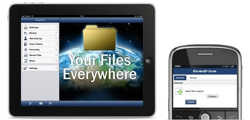 Livedrive on mobile devices