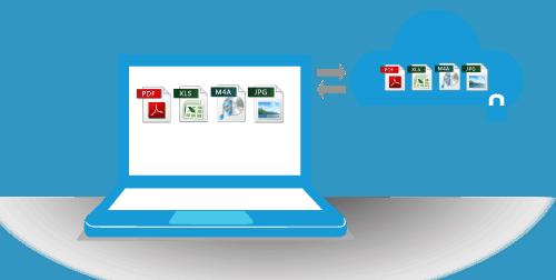 Laptop running an online backup service